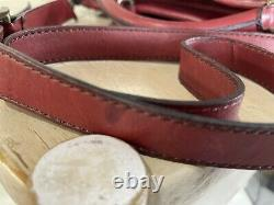 Fossil Vintage Revival Satchel Rouge Cuir Satchel Crossbody Messenger Sac À Main