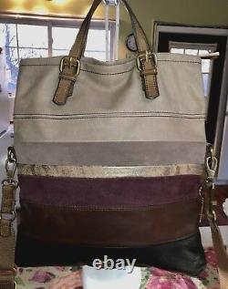 Fossiles Explorateur Multi Cuir Foldover Convertible Messenger Bag Bandoulière