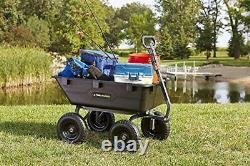 Gor6ps Poly Yard Chariot Poubelle Lourde Avec Convertible 2-en-1 Poignée
