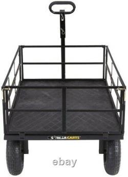 Gorilla Steel Utility Cart Heavy-duty 1 200 Lb 46. X 30. Convertisseur D'attelage
