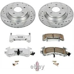 K1517-26 Powerstop Brake Disc And Pad Kits 2-wheel Set Front Nouveau Pour Chevy