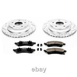 K1517 Powerstop Brake Disc And Pad Kits 2-wheel Set Front Nouveau Pour Chevy Corvette