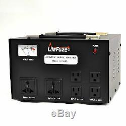 Litefuze 5000 W Watt Step Up / Down Régulateur De Tension Transformateur Convertisseur
