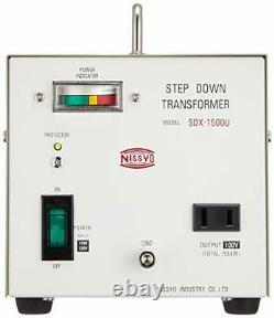 Nissyo 110/120v À 100v 1500w Transformateur De Tension De Marche Vers Le Bas Pour Jpa