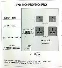 Norstar 3000 Watt Convertisseur De Tension Et Stabilisateur 110v 220 V Transformateur 3000w