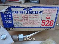 Nos Fenton Plancher Shift Kit De Conversion Vintage Original Accessoires 56-62 Ford Merc