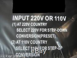 Nouveau 10000 Watt Transformateur Convertisseur 220 Volt 110 Convertisseur 240v 110v