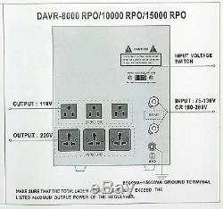 Nouveau 15000 Watt Convertisseur Stabilisateur 110v Transformateur 220 V 15000w 110-220 V