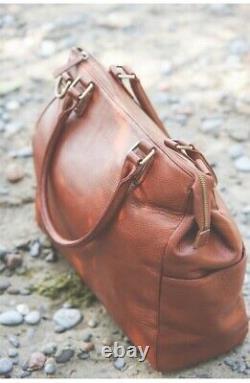 Nouveau Oemi Baby Brownstone Aniline Pebbled Premium Leather Diaper Tot Satchel Bag