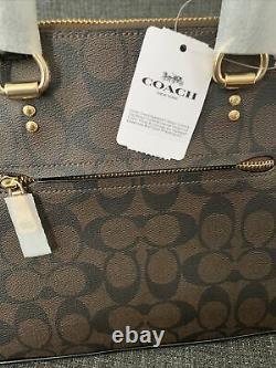 Nouvelle Coach Katy Sig Crossbody Satchel Purse Brown/black Canvas Leather 2558