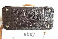 Nwt Brahmin Duxbury Snake Print Leather Convertible Satchel Sac À Main
