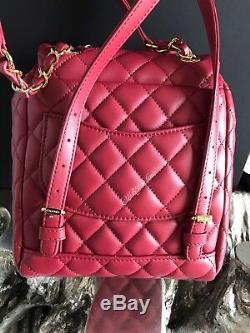Nwt Chanel Urban Esprit Sac À Dos Rouge Bourgogne Veau D'or Calfskin Voyage 2018 18k