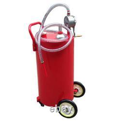 Réservoir De Transfert De Carburant De Convertisseur D'huile De Pompe À Main De 35 Gallons Acier Lourd Durable