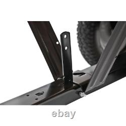 Riding Mower Poly Convertible Cart 350lbs. Capacité Convertible Push Tow Hauling