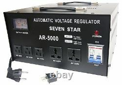 Seven Star Ar5000 Watt Step Up Abaisseur De Tension Convertisseur Stabilisateur 220v 110v 5000w