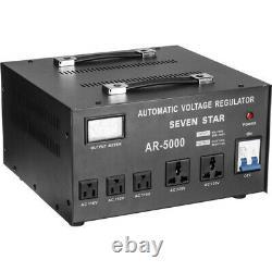 Seven Star Ar-5000 Watt Transformer Jusqu'à Abaisseur De Tension Convertisseur Stabilisateur
