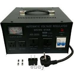 Sevenstar 3000w Convertisseur De Tension Lourde Stabilisateur 3000 Watt 110v 220v 240v