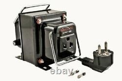 Simran Thg-5000 Convertisseur De Tension De Marche Vers Le Bas Transformateur 5000 Watt Noir